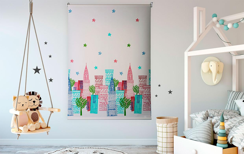 Estor enrollable skyline stars Rollupgames